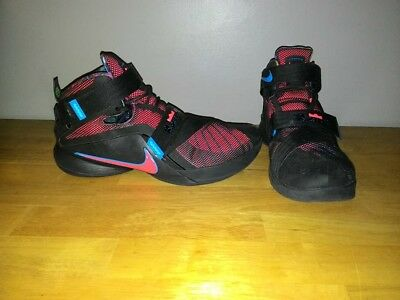 4fd687f086da 2015 NIKE LeBRON JAMES SOLDIER 9 IX Black Multicolor Shoes 749417-084 Size  12.5