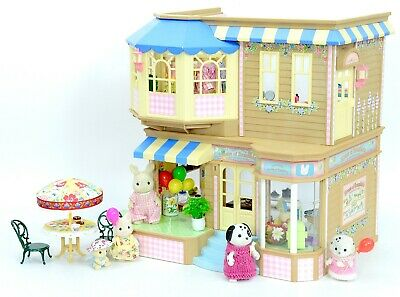 *fistuff* Sylvanian Families Decorated House Bundle Brambles Store & Cafe + Lots