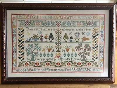 Needlepoint Sampler - Superb, High Quality Framed Needlepoint Sampler