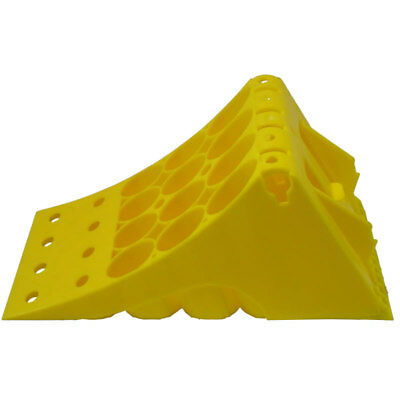 Wheel Chock - Large Heavy Duty for HGV Trailer or Truck Lorry Yellow ADR