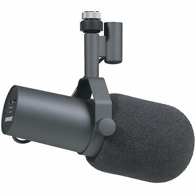 Shure SM7B Studio Vocal Microphone SM 7 7B Cardioid Dynamic Mic with Windscreens