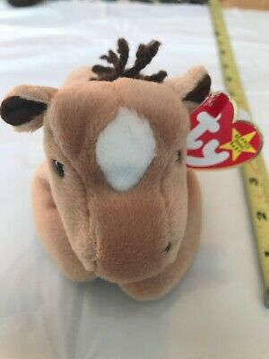 Ty Beanie Babies Retired Rare Derby Horse New With Tags Vintage 1995 Christmas Beanie Babies-original Retired