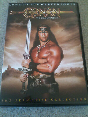 Conan: The Complete Quest (DVD, 2004) VG+, Barbarian, Destroyer