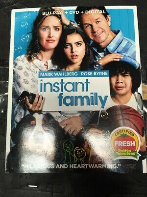 Instant Family Blu-ray + DVD + DIGITAL Free Shipping NEW Sealed Slipcover