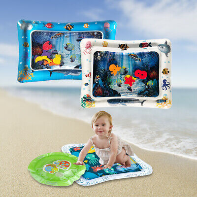 Baby Inflatable Patted Water Play Pad Mat Baby Prostrate Water Filled Cushion