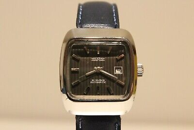 """Vintage Rare Tv Model Stainless Steel Ladies Swiss Automatic Watch """"Tourist"""" 21J"""