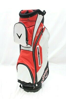 New 2016 Callaway Warbird Cart Golf Bag (Red-Black) Callaway Cart Golf Bag