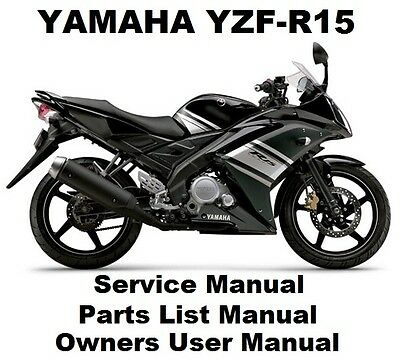 YAMAHA YZF-R15 150 V 1 Owners Workshop Service Repair Parts Manual PDF on  CD-R