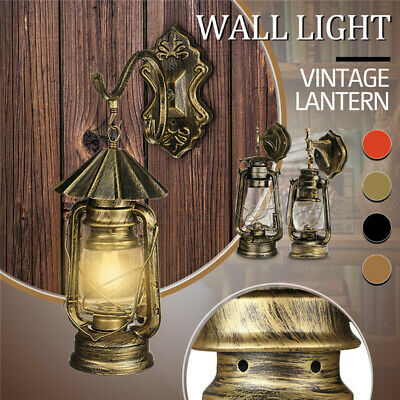 E27 Retro Antique Vintage Rustic Glass Wall Sconce Light Lamp Fixture Outdoor