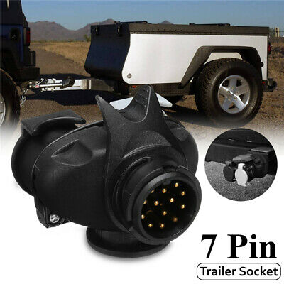 13 Pin To 7Pin Plug Adapter Car RV Trailer Truck Caravan Towbar Socket Converter