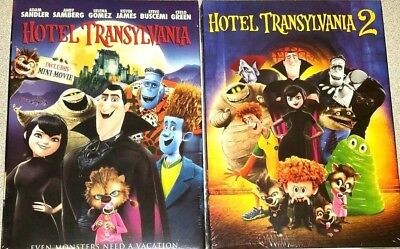 Hotel Transylvania 1 & 2 Movie COLLECTION (DVD, 2016)  New! Free Shipping!