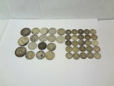 $7.50 Face Value 90% Silver Quarters Dimes Halves Coin United States Coins Lot