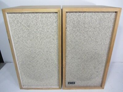 PAIR / TWO-WAY KLH MODEL SIX 6 SPEAKERS HENRY KLOSS Early RARE SET MID CENTURY