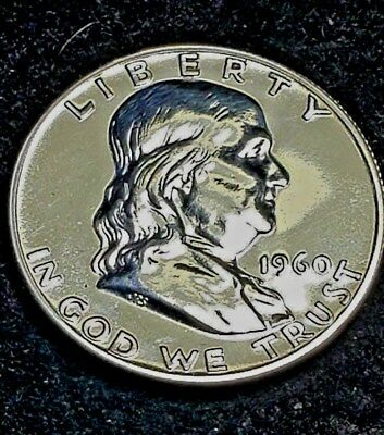 1960 Franklin Half Dollar Proof 90% Silver Nice Coin Exactly Shown Free S/H