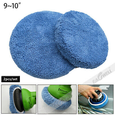 "Car Polisher Waxing Coral Velvet Polishing Bonnet Buffing Pad Cover 7""-10"" inch"