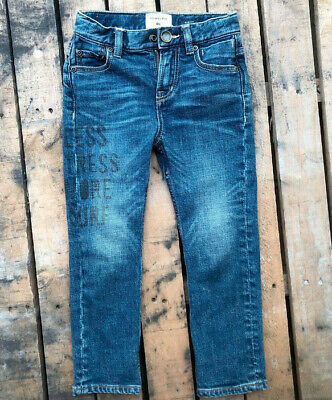 QUIKSILVER Slim Fit Jeans, size 5, adjustable waistband, featuring print on leg