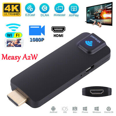 Wireless Wifi HD Video TV Dongle EZCast Miracast DLNA Airplay HDMI 4K Receiver
