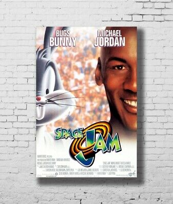 C1237 SPACE JAM MOVIE POSTER 1 Sided RARE ORIGINAL Rolled Art Silk Poster