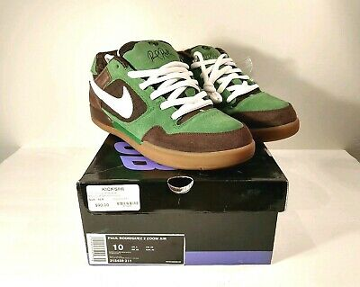 31be368b456dc NIKE ZOOM AIR Paul Rodriguez 2 315459 211 Baroque Brown Green Size 10 NEW  IN BOX