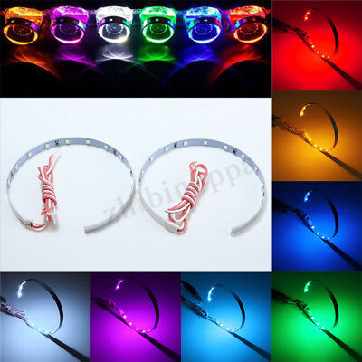 2x 15-SMD LED Demon Eye Halo Ring For 3inch 78mm Headlight  HID Projector Lens