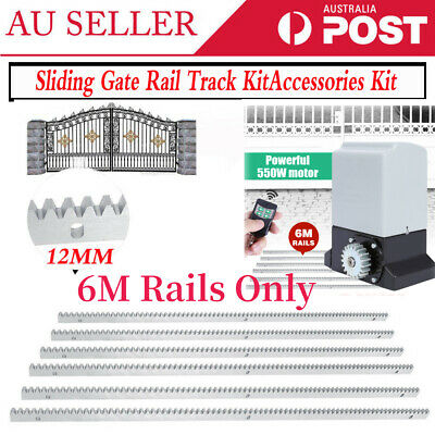 6M Sliding Gate Track Hardware Acc Kit For Automatic Electric Gate Opener 1200KG