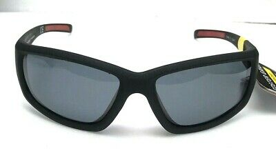 ab44d7e595fd New Men Foster Grant Sunglasses POLARIZED Matte Black Red Nose Piece