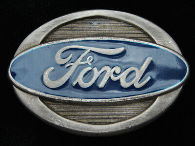 QF07133 VINTAGE 1970s **FORD** MOTOR COMPANY PEWTER BELT BUCKLE