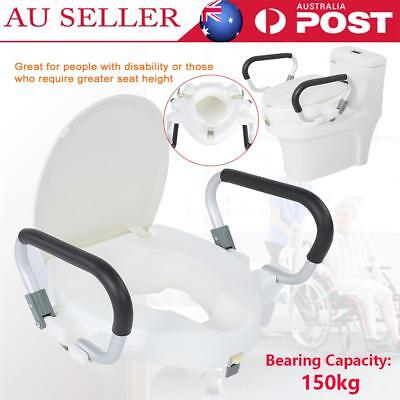 10cm Drive 2 In 1 Elevated Toilet Seat Removable Arms Raised Disability Aid AU