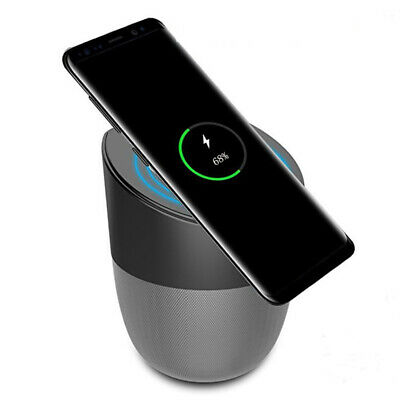 2in1 Bluetooth Speaker Qi Wireless Fast Charger Charging For Samsung iPhone
