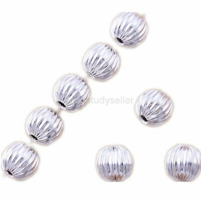 100 Pieces 6mm silver Plated beads Jewelry Making Findings Charms