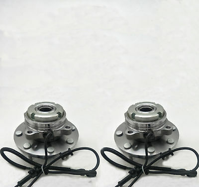 Set of New Front Wheel Hub & Bearing Fits Ford F250 F350 Excursion 4x4 w /ABS