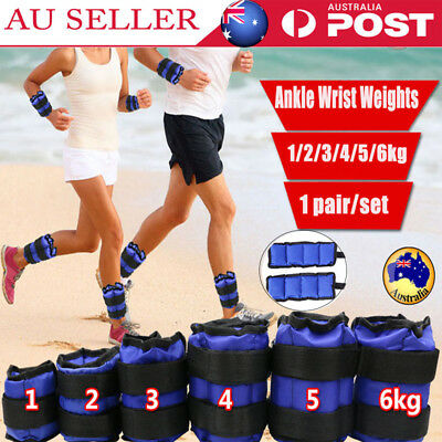 2x Ankle Wrist Weights GYM Equipment Fitness Traning 1KG 2KG 3KG 4KG 5KG 6KG
