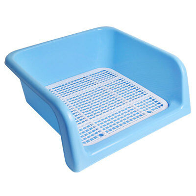 Indoor House Dog Puppy Pet Potty Toilet Pee Trainning Obedience Pad Tray Blue