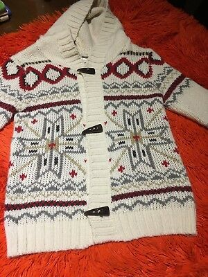 Children knit  jumper with hoddie size 4