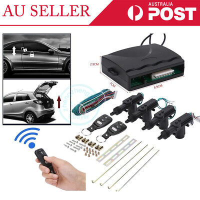 Universal 4 Door Car Remote Central Kit Security Locking Keyless Entry System ZZ
