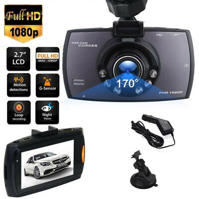 1080P HD Dual Lens Car DVR Dash Cam Front and Rear Mirror Camera Video Recorder