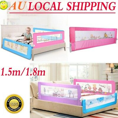 Safety Bed rail/BedRail Cot Guard Protection Child toddler Kids Pink/Blue AU