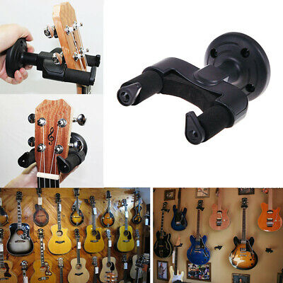 Plastic Guitar Display Wall Hanger Holder Stand Rack Hook Mount Bass Black NXD