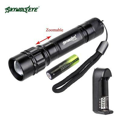 Super Bright 10000LM 3 Modes  T6 LED 18650 Flashlight Torch Lamp Light Set GA BE