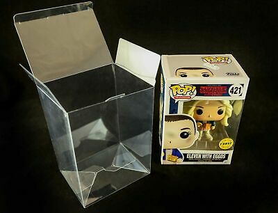 "10 x Vinyl Display crashlock Cases Box s  4"" Protectors for Funko Pop figures"
