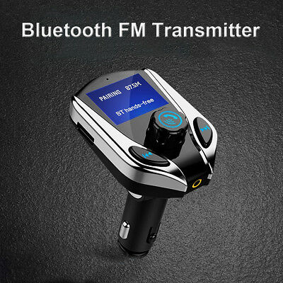 Auto Wireless bluetooth FM Transmitter MP3 Player Dual USB Charger Adapter