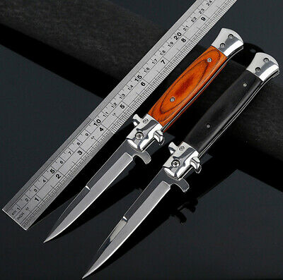 Hot Stiletto Milano Spring Assisted Folding Knife Outdoor Tactical Pocket Blade