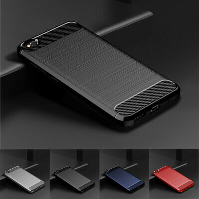 For Xiaomi Redmi Go 6A 5 Plus Shockproof Slim Fiber Carbon Soft TPU Cover Case