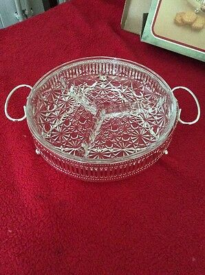 Silver Plated and Glass Hors D'OEUVRE DISH - H.SAMUEL The Jewellers Collection