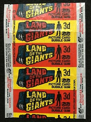 A&BC 1969 Land of the Giants 3d Picture Card Bubble Gum Wax Wrapper - FCC