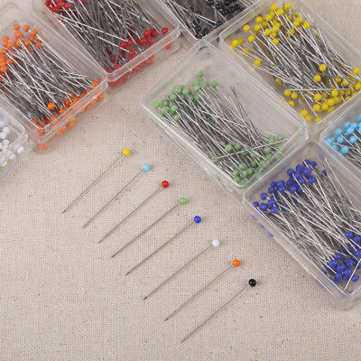 800/1000pcs Multicolor Straight Glass Ball Head Sewing Pins Dressmaking Quilting