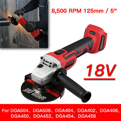 For MAKITA 18V CORDLESS BRUSHLESS ANGLE GRINDER REPLACES DGA456 125mm AU STOCK