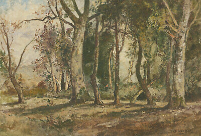 Oliver Hall RA (1869-1957) - Signed Early 20th Century Oil, Ebernoe Forest