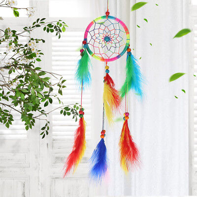 Large Chakra Dream Catcher Wall Hanging Crystal Hippy Ornament Multi-color