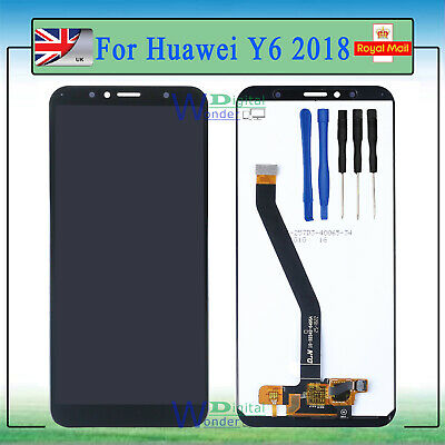For Huawei Y6 2018 ATU-L11 LCD Display Touch Screen Digitizer Replacement Black